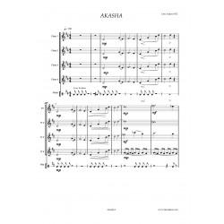 AKASHA - partition: 4 flûtes
